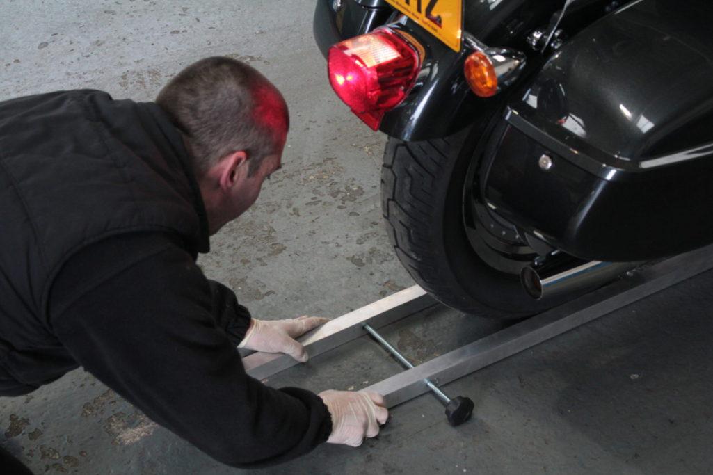 Motorcycle MOT Wheel Alignment